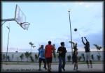 Action in the basketball court